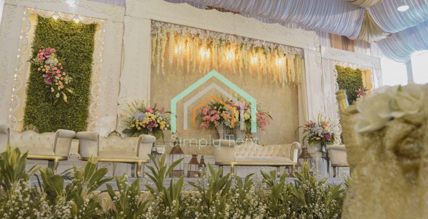 Perpaduan Kain Tenda Pernikahan Warna Mocca